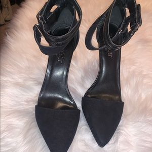 NastyGal black pointy toe high heels